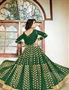 photo of Festive Wear Green Color Designer Embroidered Georgette Salwar Suit