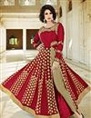 image of Festive Wear Designer Red Color Salwar Kameez With Embroidery In Georgette Fabric