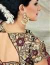 picture of Maroon Color Fancy Fabric Designer Party Wear Saree With Embroidered Border Work