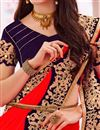 photo of Red Embroidered Designer Georgette Saree