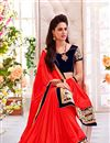 photo of Red Festive Wear Embroidered Georgette Saree