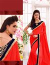image of Red Festive Wear Embroidered Georgette Saree