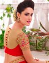 photo of Red-Beige Designer Net Saree with Banglori Blouse