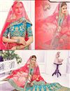 photo of Designer Festive Wear 3 Piece Banglori Silk Lehenga Choli In Beautiful Cyan Color