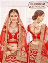 photo of Glamorous Red Color Festive Wear 3 Piece Lehenga Choli In Net Fabric