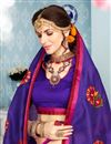 photo of Traditional Weaving Work Function Wear Cotton Fabric Fancy Purple Saree