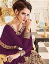 photo of Designer Anarkali Salwar Kameez In Burgundy Georgette Fabric With Embroidery Designs