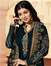 photo of Ayesha Takia Straight Cut Churidar Suit In Navy Blue Georgette Fabric With Work