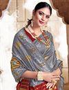 photo of Puja Wear Grey Color Trendy Art Silk Fabric Weaving Work Saree