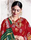 photo of Art Silk Fabric Trendy Puja Wear Red Color Weaving Work Saree