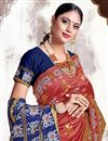photo of Pink Color Puja Wear Art Silk Fabric Trendy Weaving Work Saree