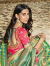 photo of Eid Special Art Silk Designer Traditional Wear Sea Green Weaving Work Saree With Heavy Blouse