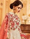 photo of Cream Art Silk Function Wear Embroidered Anarkali Salwar Kameez