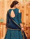 photo of Art Silk Designer Anarkali Salwar Suit In Navy Blue With Embroidery