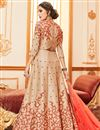photo of Chikoo Color Art Silk Function Wear Embroidered Anarkali Salwar Kameez