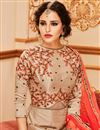 picture of Chikoo Color Art Silk Function Wear Embroidered Anarkali Salwar Kameez