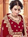 photo of Designer Bridal Wear Maroon Fancy Embellished Lehenga