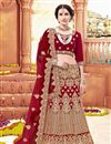 image of Designer Bridal Wear Maroon Fancy Embellished Lehenga