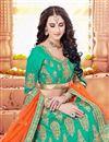 photo of Wedding Special Bridal Wear Cyan Embellished Designer Lehenga
