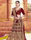 image of Wedding Special Bridal Wear Maroon Embroidered Fancy Lehenga Choli