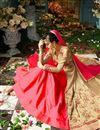 photo of Eid Special Wedding Function Wear Beige And Pink Taffeta Silk Floor Length Anarkali Suit