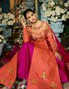 photo of Eid Special Taffeta Silk Fancy Function Wear Salmon And Rani Color Designer Long Anarkali Dress