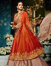 photo of Eid Special Taffeta Silk Function Wear Designer Light Salmon And Rust Color Anarkali Suit