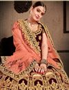 photo of Wedding Special Velvet Reception Wear Maroon Designer Lehenga With Heavy Work
