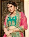 photo of Teal Color Wedding Wear 3 Piece Lehenga In Art Silk Fabric With Embroidery Work