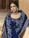 photo of Ravishing Party Wear Georgette Fabric Saree In Navy Blue With Embroidery Work