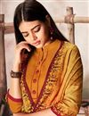 photo of Pashmina Fabric Solid Kurti With Printed Dupatta In Orange Color