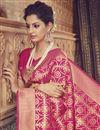photo of Sangeet Wear Crimson Color Traditional Designer Saree In Art Silk