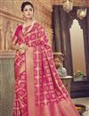 image of Sangeet Wear Crimson Color Traditional Designer Saree In Art Silk