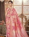 image of Wedding Function Wear Art Silk Pink Traditional Saree