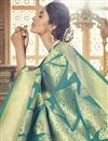 photo of Teal Art Silk Designer Wedding Wear Fancy Saree