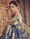 photo of Traditional Function Wear Navy Blue Saree In Art Silk
