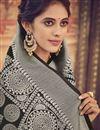 photo of Wedding Function Wear Art Silk Black Traditional Saree