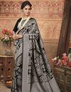 image of Wedding Function Wear Art Silk Black Traditional Saree