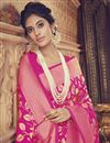 photo of Art Silk Rani Color Designer Wedding Wear Fancy Saree