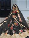 image of Embroidered Art Silk Digital Floral Print Lehenga Choli
