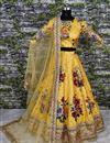 photo of Embroidered Art Silk Digital Floral Print Lehenga Choli