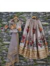 picture of Function Wear Fancy Digital Floral Print Lehenga In Art Silk