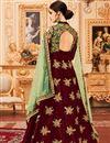 photo of Embroidered Function Wear Art Silk Long Anarkali Dress