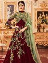 image of Embroidered Function Wear Art Silk Long Anarkali Dress