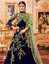 image of Wedding Wear Embellished Floor Length Anarkali In Art Silk