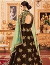 photo of Art Silk Embellished Designer Long Anarkali Dress In Brown