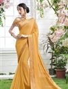 image of Party Wear Georgette Saree With Stylish Fancy Blouse