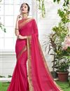 image of Georgette Designer Party Wear Saree With Trendy Blouse