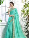 image of Party Wear Georgette Saree With Stylish Blouse