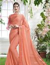 image of Designer Saree In Georgette Fabric With Attractive Blouse